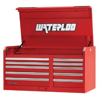 Waterloo Professional 46 in. 10 Drawer Chest Red - PCH-461024RD