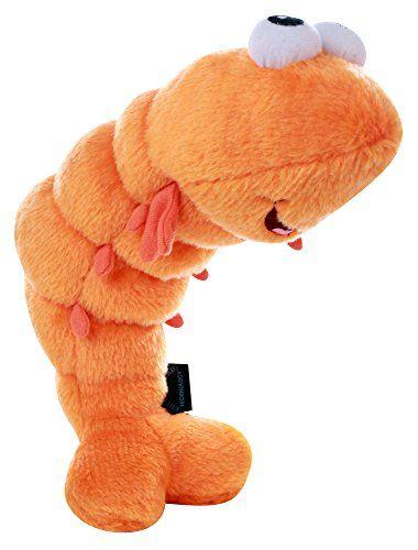 Godog Shellz Shrimp With Chew Guard Technology Tough Plush Dog Toy