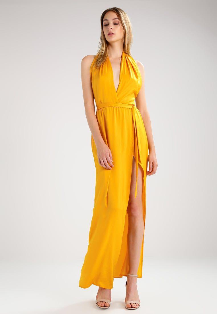 69f84f019f5 Robes longues Missguided TWIST NECK - Robe longue - yellow jaune  43