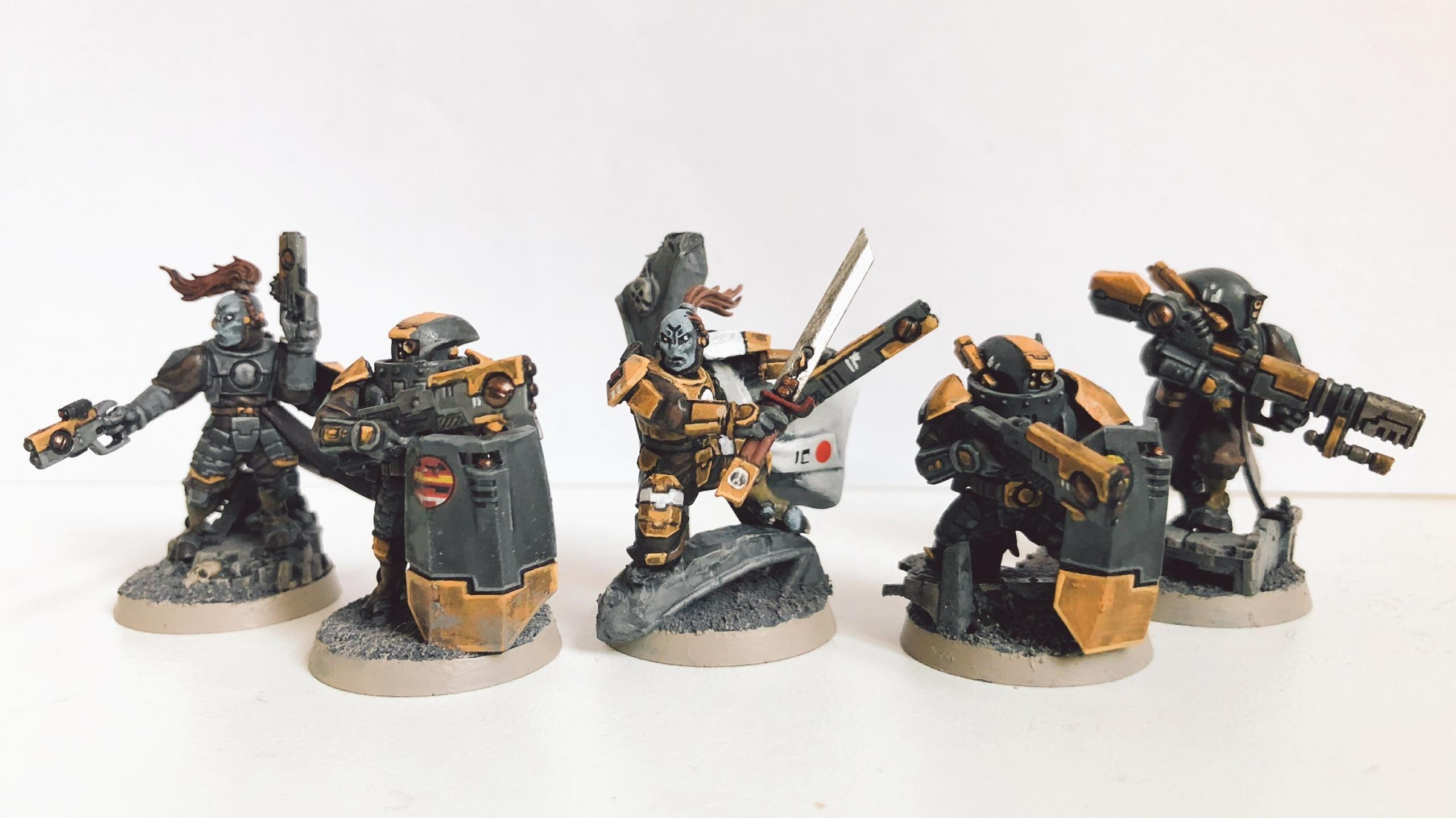 Warhammer 40k Artwork Bilder Primaris Space Marines Tau Kill Team Space Wolves
