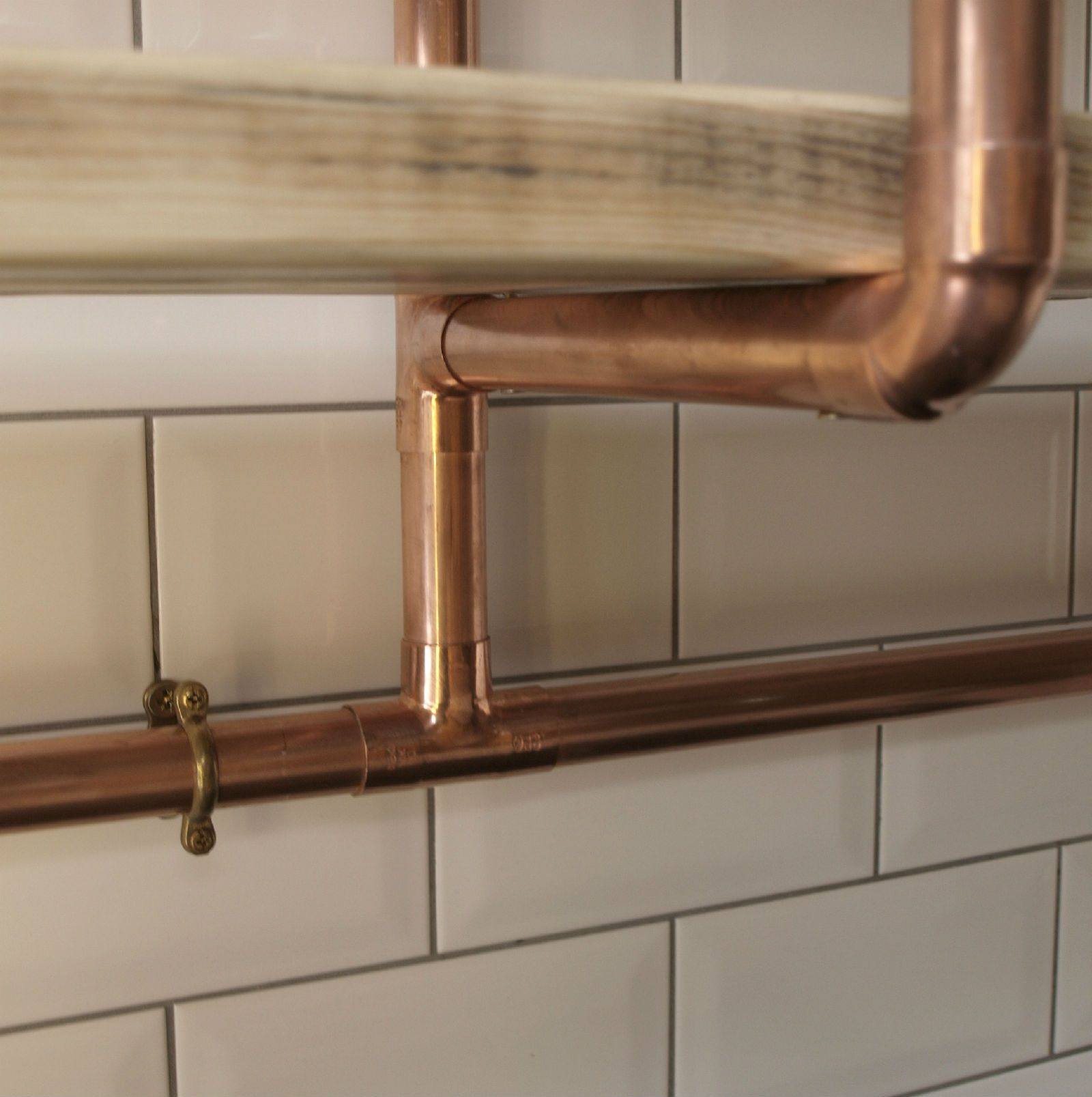 Hand made, unique, vintage style industrial chic copper pipe ...