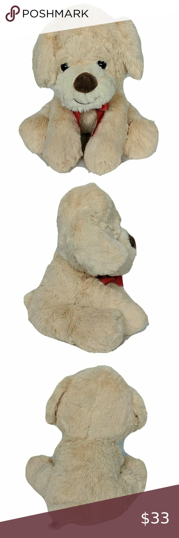 Walgreens Christmas Tan Puppy Dog Plush With Bow Dogs And Puppies Puppies Pet Toys [ 1740 x 580 Pixel ]