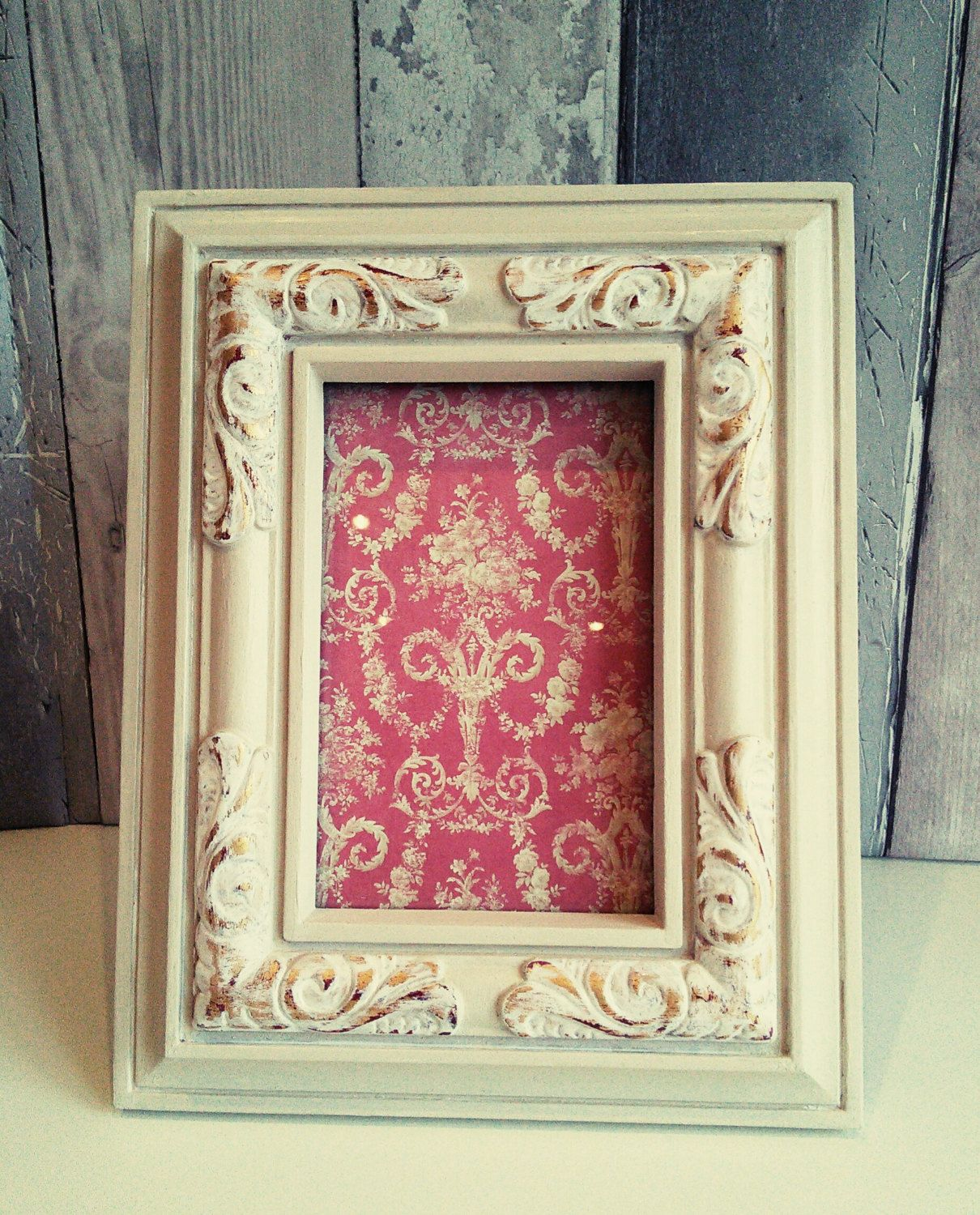 Shabby Chic Frame Upcycled Frame Painted Photo Frame Vintage