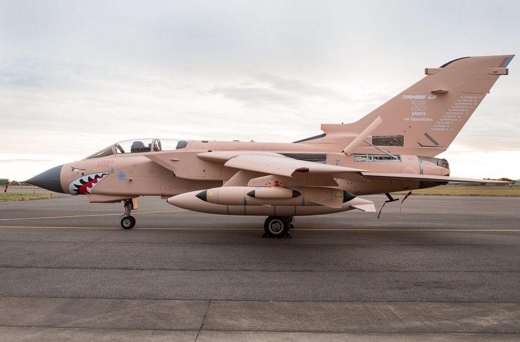 RAF Tornado GR4 painted in Gulf War paint scheme in honour ...