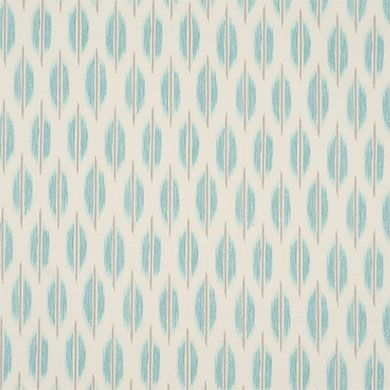 Braemore Spice Market Aquamarine 54″ Fabric is a small-scale ikat design from the Hide & Souk Collection. This soft design is screen printed on a 100% cotton fabric.