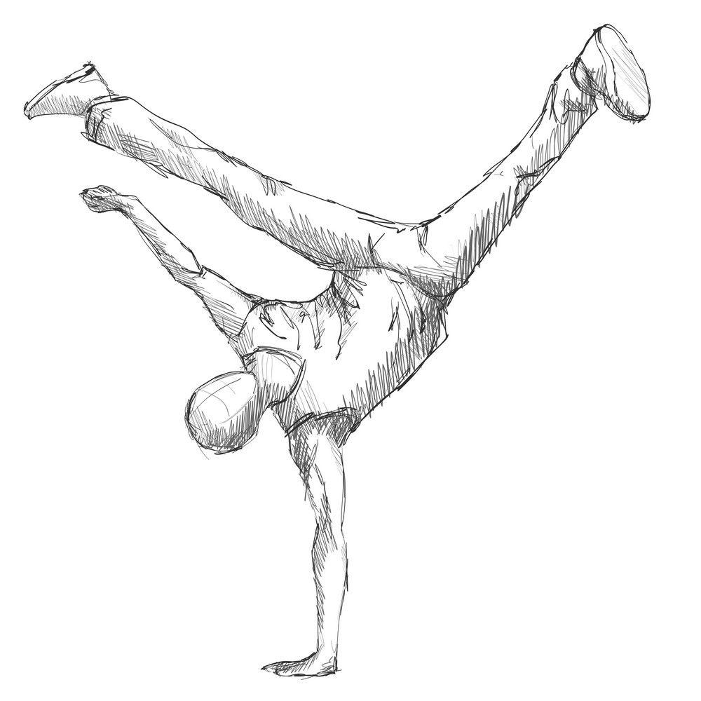 Hiphop Man Dancer Sketch Acrobatic Action Art Boy Break Dance Dancer Doodle Drawing Hiphop Jumping Man Dancer Drawing Dancing Drawings Dancers Art
