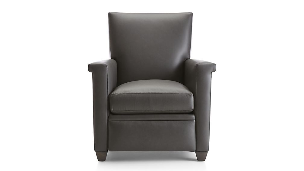 Declan Leather Recliner Reviews Crate And Barrel With Images Leather Recliner Recliner Crate And Barrel