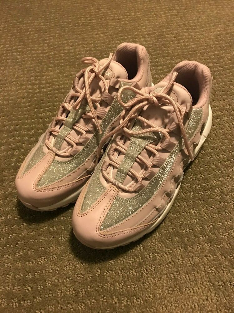 Details about Women's Nike Air Max 95 Size 7 Shoes Rose Glitter Sparkle AT0068 600 NEW