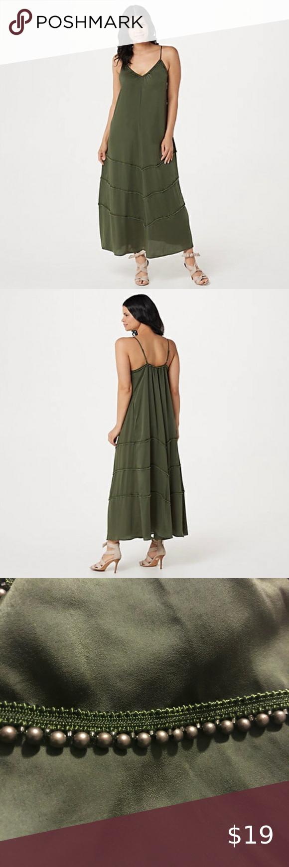 Rachel Hollis Peasant Dress With Beading Detail Xl Excellent Preowned Condition Qvc Dresses Maxi Dresses Peasant Dress Womens Dresses [ 1740 x 580 Pixel ]