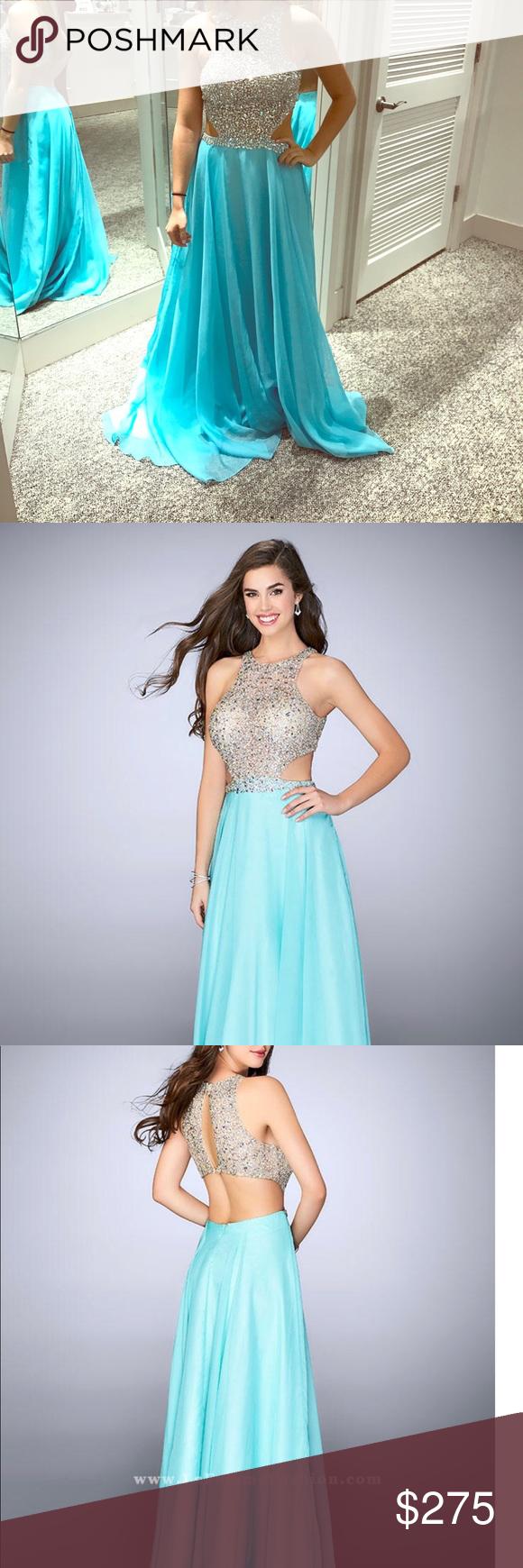 La femme size full length prom dress prom