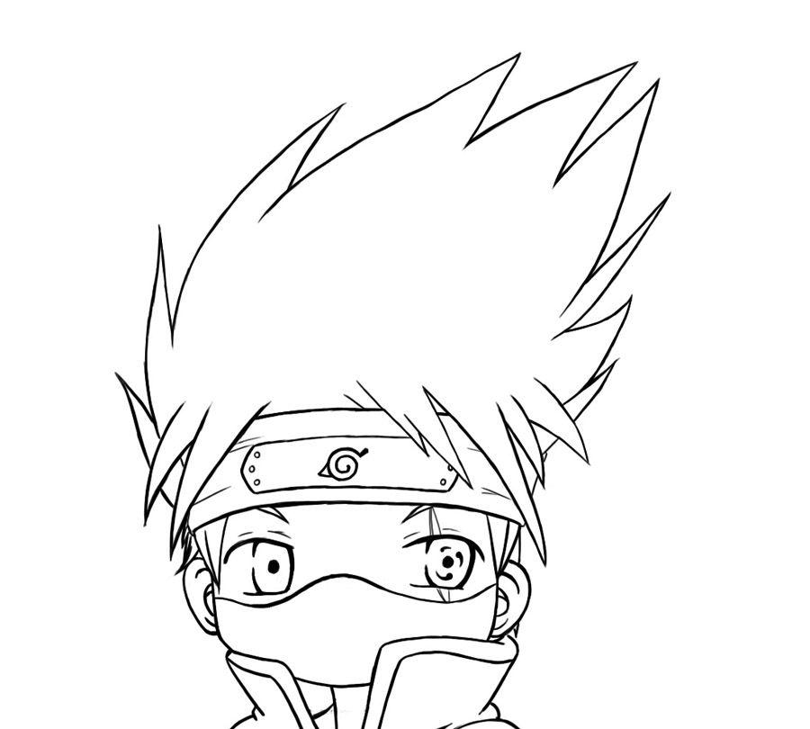 Chibi Kakashi Lineart By Hyliansword Chibi Anime Art Drawings