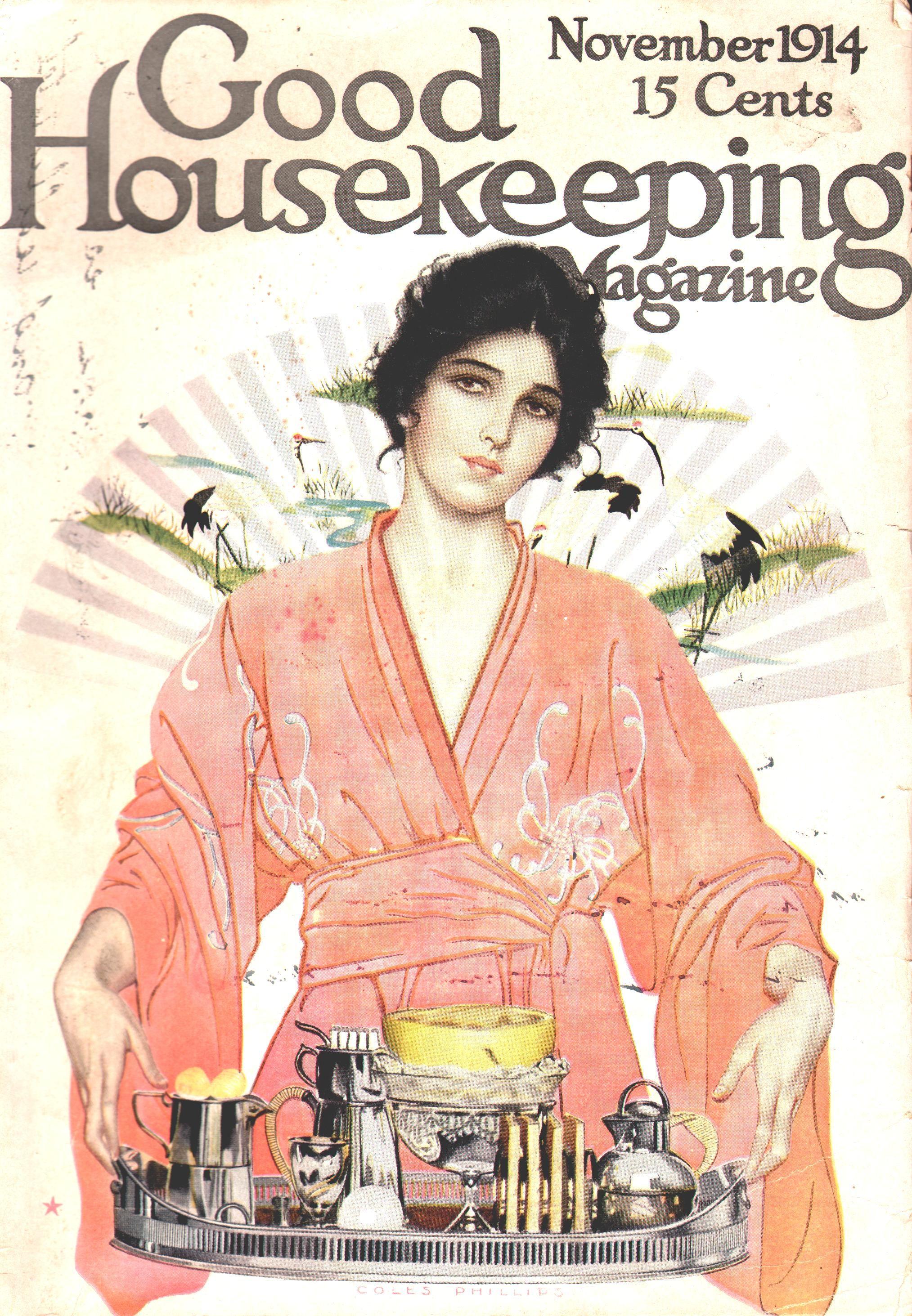 Coles Phillips - Good Housekeeping Magazine cover (November 1914)
