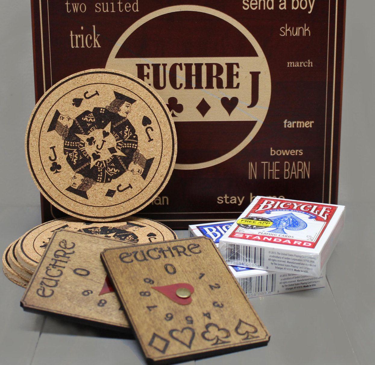 Executive style Euchre Card Game Box Set, Card game, Game