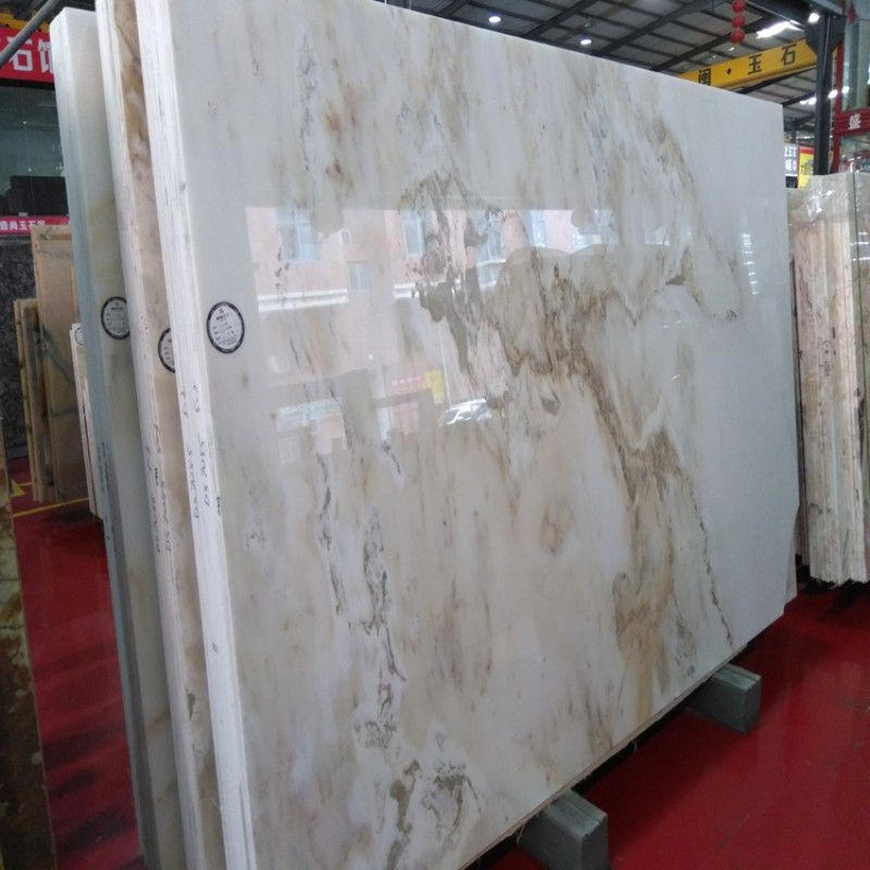 White Onyx Slab With Brown Veins China Supplier Stone2buy Com