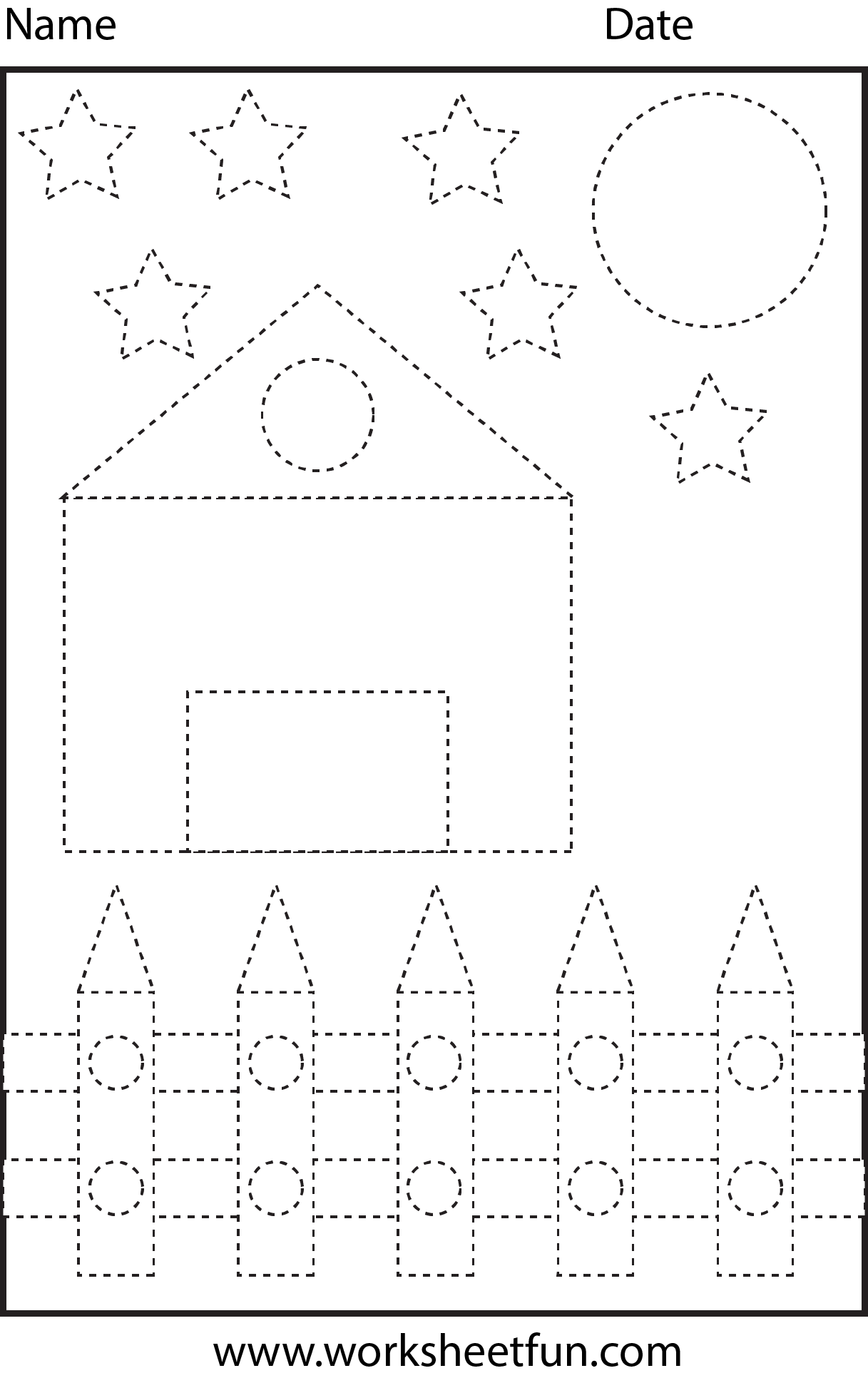 Shape Tracing | Pre-K Worksheets | Pinterest | Vorschule ...