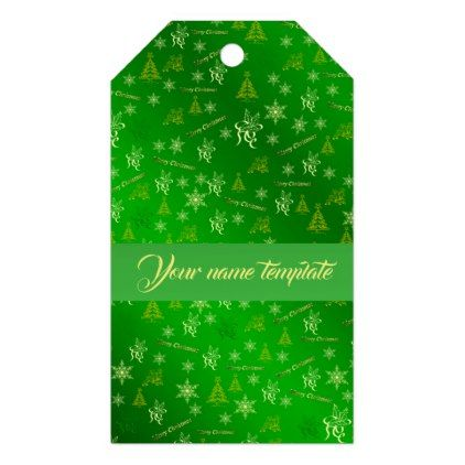 merry christmas green text template gift tags
