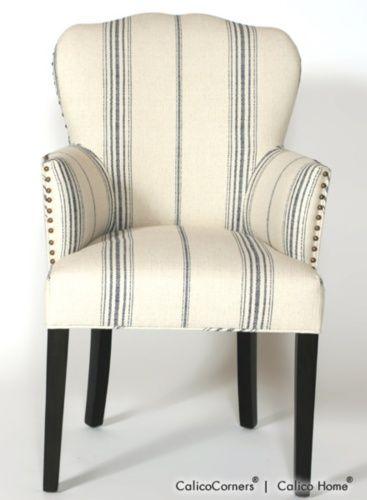 Navy Stripe Chair Family Room Pinterest Chair