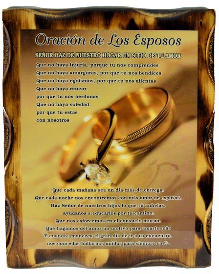 Poemas Para Matrimonio Catolico : Cuadro oracion de los esposos cde oraciones esposo