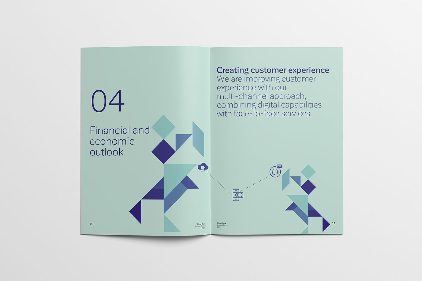 Concept Design For Riyad Bank Annual Report 2016 Annual Report Concept Design Customer Experience