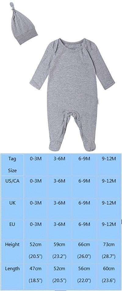 dd913171e Kidsform Infant Baby Unisex Cotton Solid Footed Romper Onesie ...