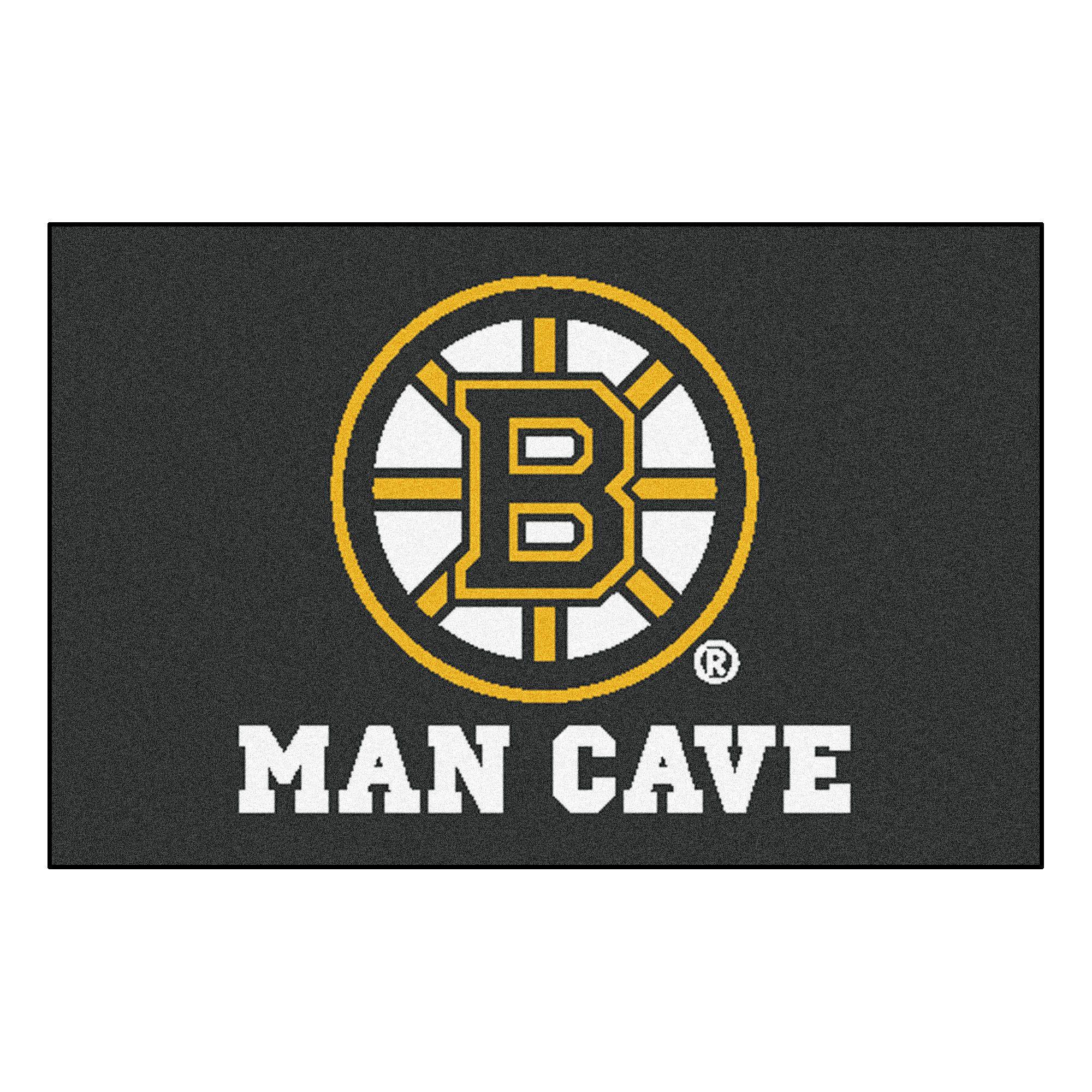 Boston Bruins Man Cave Starter Rug 19x30