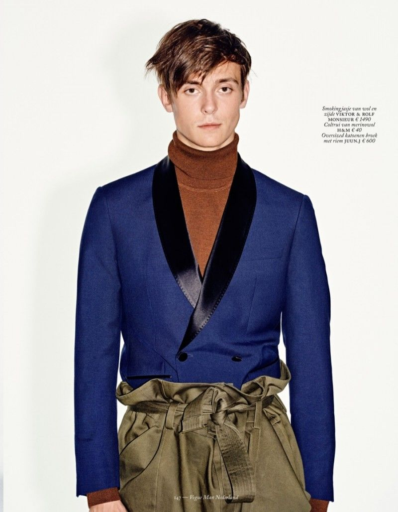 Gustaaf Wassink Embraces the New Formal for Vogue Man Netherlands