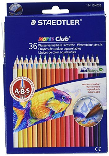 Staedtler Watercolor Pencils Box Of 36 Colors 14410nd36