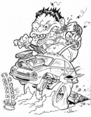 Asphalt Fiends Coloring Book 2017 Rat Fink Hot Rod Art Monster