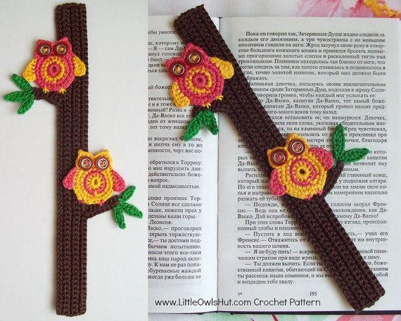 Libros De Amigurumis Gratis : Owls bookmark or decor amigurumi crochet pattern pdf file
