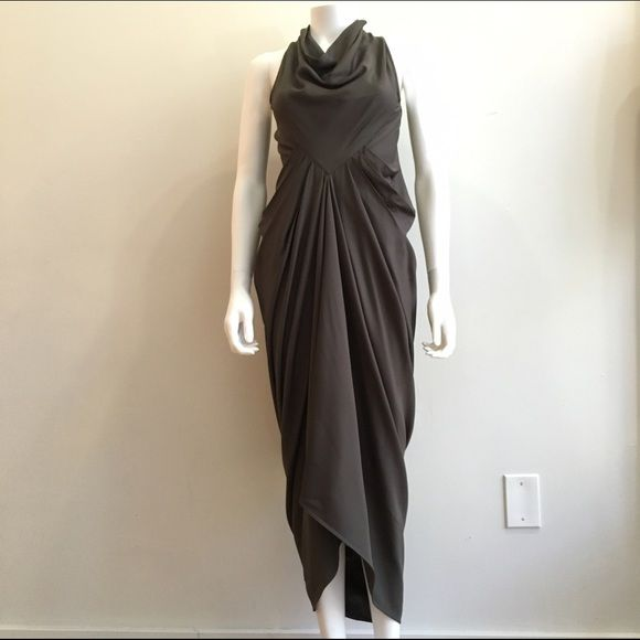 Rick Owens Dress New with tags Stunning Rick Owens dress from spring summer 15. New with tag. Gorgeous goddess folds across the front and dramatic shapes and folds in the back. Rick Owens Dresses Asymmetrical