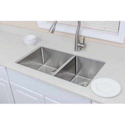 Wells Sinkware Ncu3319 10l New Chef S 33 X 19 Double Basin