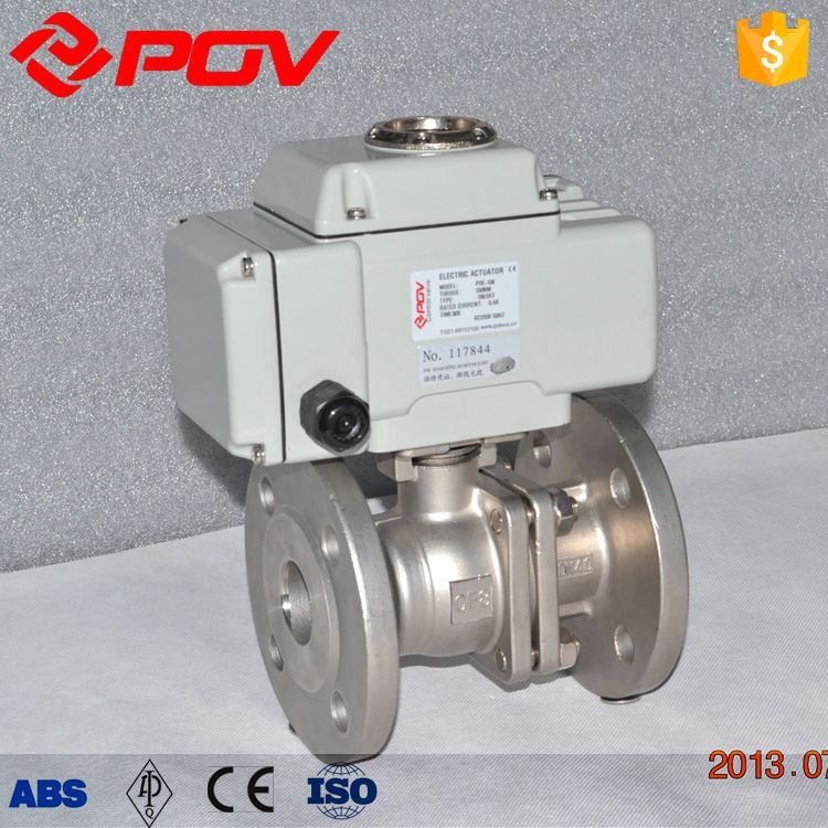 GB flanged stainless steel 24vac electric ball valve