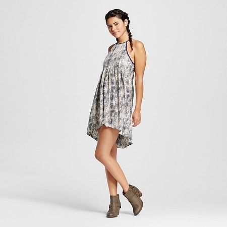 4c05411e8 Women's Tie Dye High Neck Dress Navy - Hologram (Juniors') : Target ...