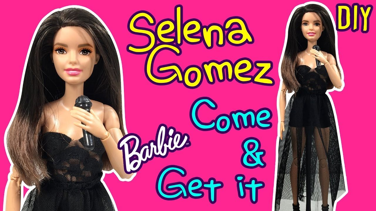 Selena Gomez Come & Get It Dress for Barbie Doll - DIY - How to Make ...