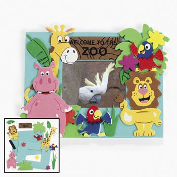 Zoo Animal Photo Frame Craft Kit A Fun For Your Themed Party Includes Self Adhesive Foam Pieces And 16 5 Cm With 7 62 X