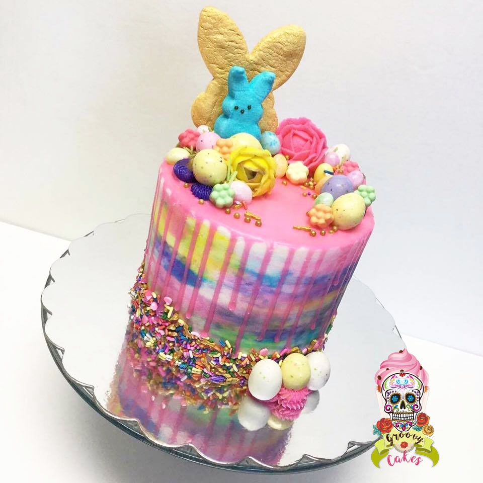 Easter drip cake Watercolor buttercream My cakes Pinterest