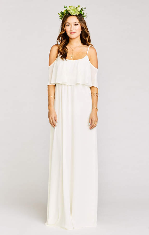 e799c182e5a Show Me Your Mumu Caitlin Ruffle Maxi Dress ~ Wedding Cake Chiffon ...