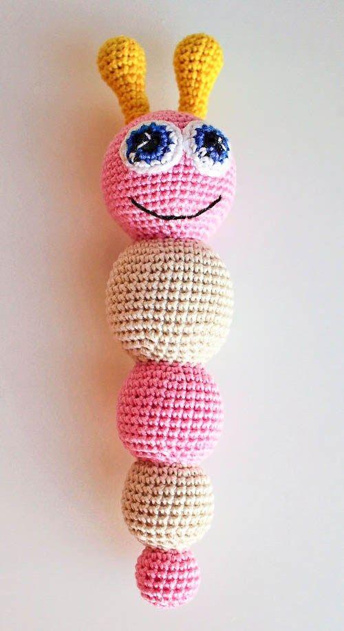Amigurumi butterfly baby rattle - crochet pattern - free | Hračky ...