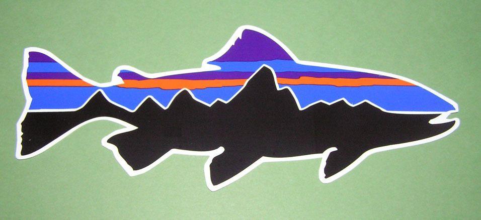 b3b3cd9a Patagonia Classic Steelhead Trout Sticker! Boat Stickers, Fish Logo,  Mountain Logos, Trout