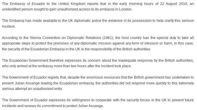 WikiLeaks on Twitter \ - statement form