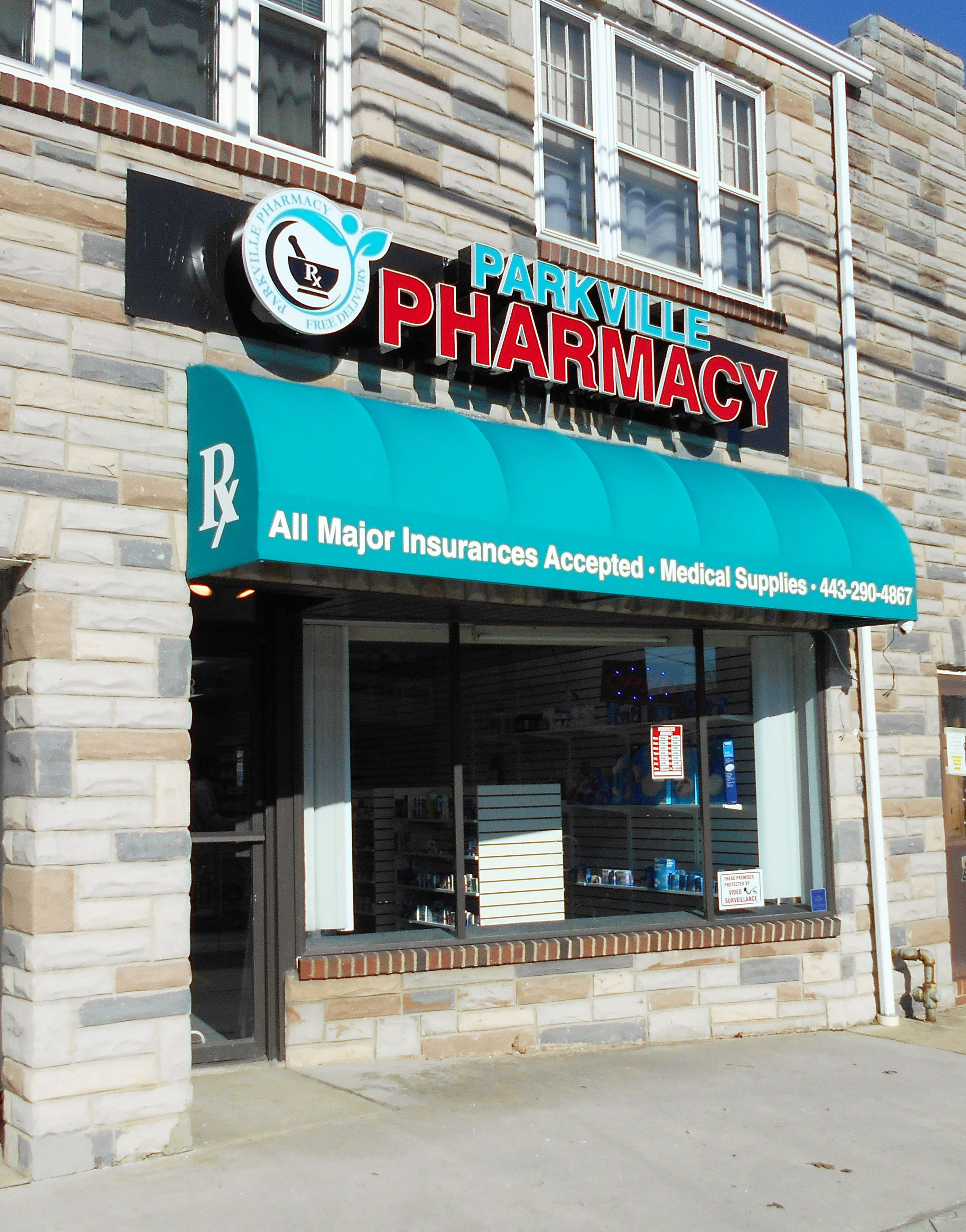Storefront Awning Adds Exposure For Small Pharmacy Awning Pharmacy Decor Awning Over Door