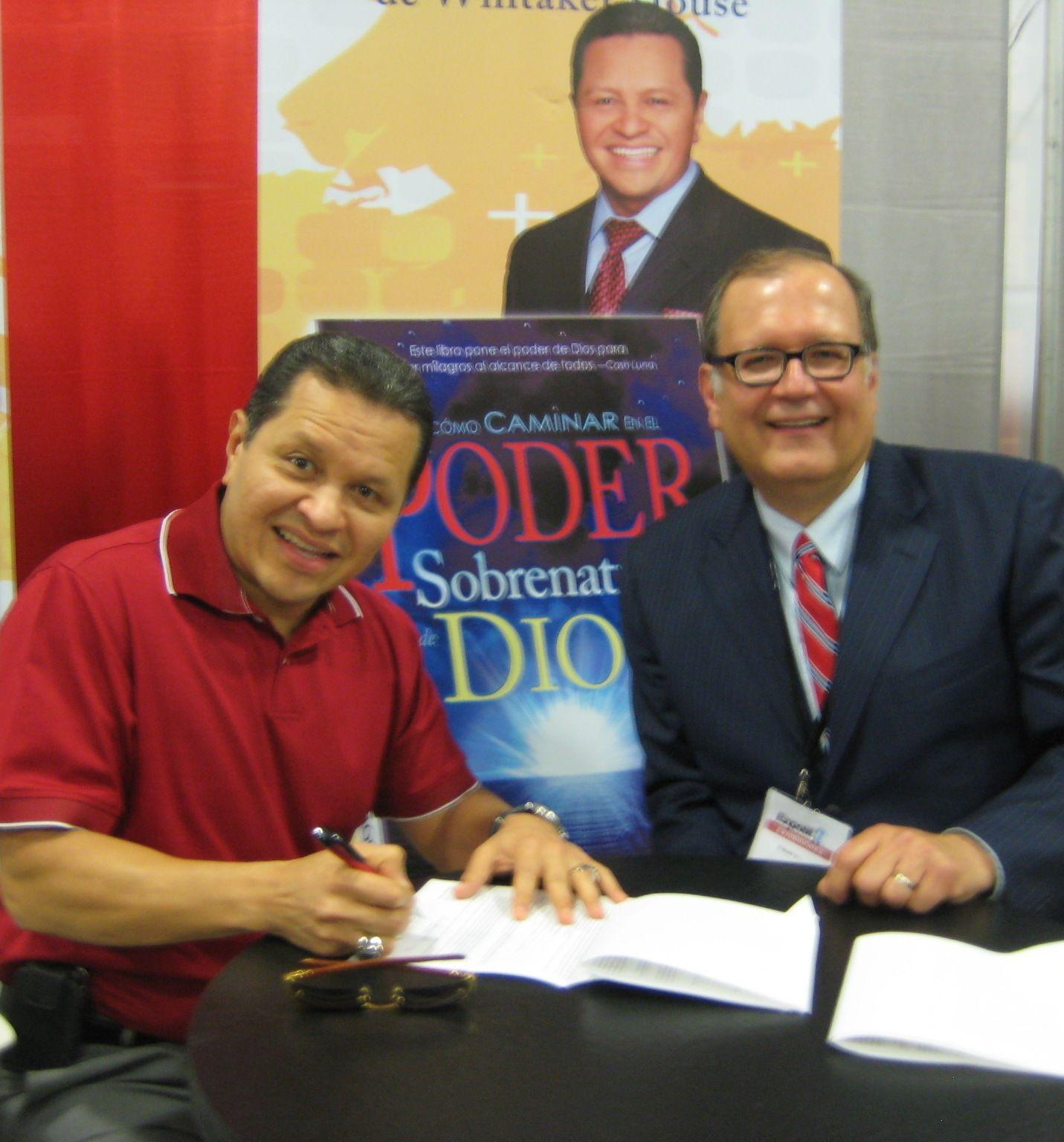 Apostle Guillermo Maldonado And Whitaker House President Bob Whitaker, Jr  At Expolit In Miami