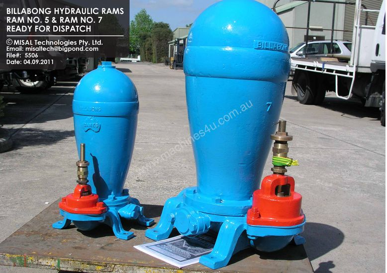 Billabong Hydraul Water Rams Sale By Manufacturer Hydraulic Ram Ram Pump Pumps