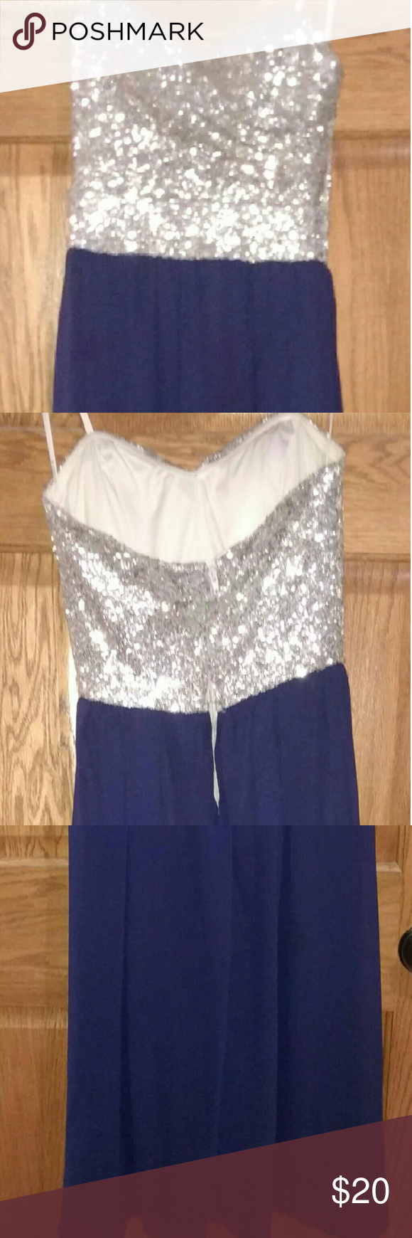 Prom dress long strapless dress hem needs to be redone on the