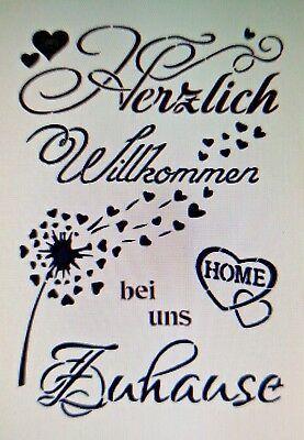 Shabby Schablone Mobel Wand Stoff Farbe Holz Schild Spruch Freunde Sterne Zitat Eur 8 50 In 2020 Willkommen Zitate Spruche Bilder Selbst Gestalten
