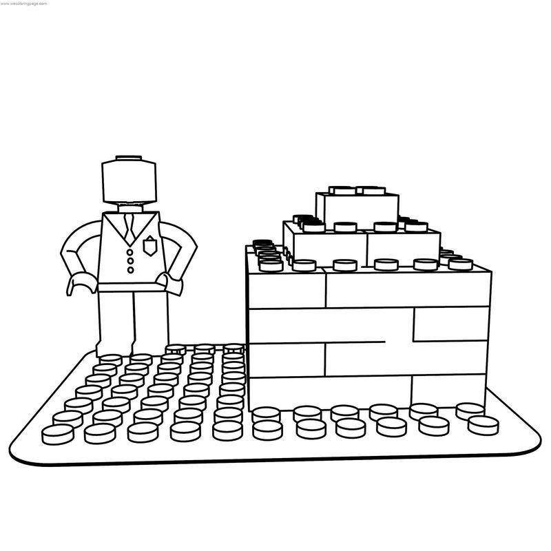 Lego Man Block Coloring Page See the category to find more ...