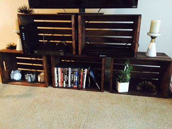 Diy Crate Tv Stand Google Search Crate Tv Stand Crate