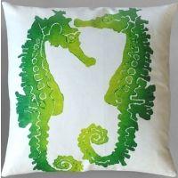 Dermond Peterson Seahorse Lime Pillow