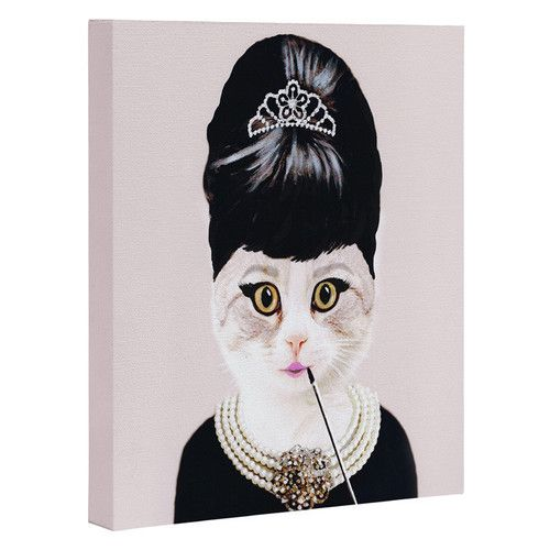 Found it at AllModern - 'Hepburn Cat' by Coco De Paris Graphic Art on Wrapped Canvas