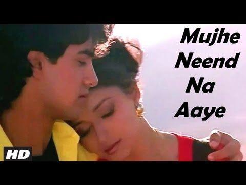 Mujhe Neend Na Aaye Full Hd Song Dil Aamir Khan Madhuri Dixit Aamir Khan Madhuri Dixit Beautiful Girl Face